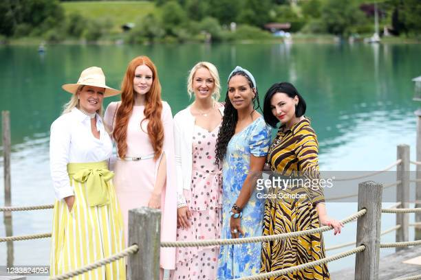 Claudia Anders, Barbara Meier-Hallmann, Sabine Lisicki, Barbara Becker and Mimi Fiedler during the wedding ceremony of Claudelle Deckert and Peter...