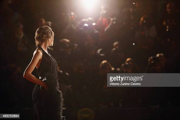 Claudia Andreatti attends the red carpet for 'Freeheld' during the 10th Rome Film Fest on October 18 2015 in Rome Italy