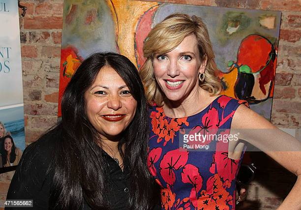 Claudia Avila and author Kelley Paul pose for a photo at Capitol File's book release party for Kelley Paul's True and Constant Friends on April 29...