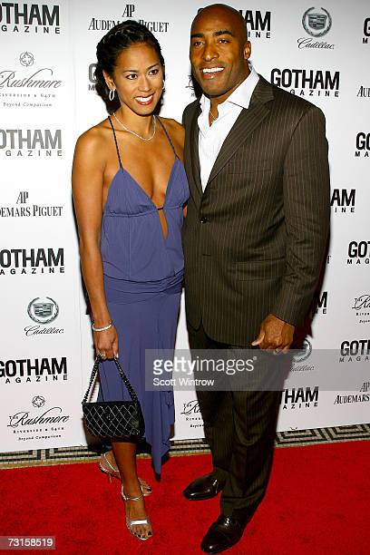 Claudia Barber and Tampa Bay Buccaneer Ronde Barber arrive for Gotham Magazine's Seventh Annual Gala at Capitale on January 30 2007 in New York City