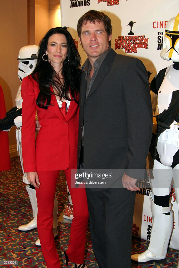Claudia Black and Ben Browder attend the 29th Annual Saturn Awards presented by Cinescape May 18, 2003 at the Renaissance Hollywood Hotel in Los Angeles, California.