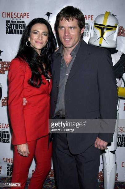 Claudia Black and Ben Browder during The 29th Annual Saturn Awards By The Academy Of Science Fiction, Fantasy And Horror - Arrivals at Renaissance...