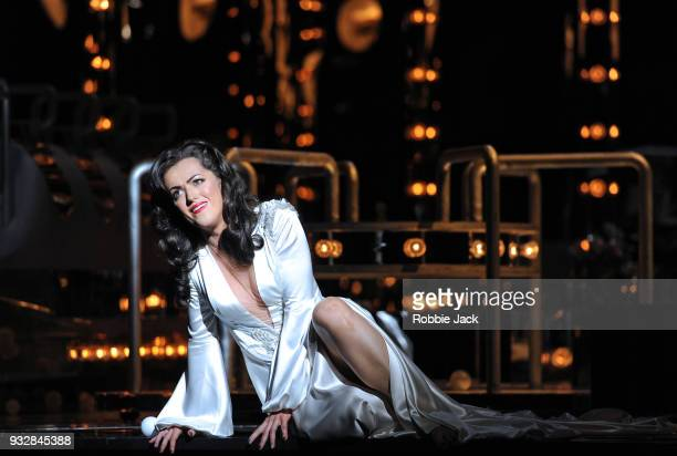Claudia Boyle as Violetta Valery in English National Opera's production of Giuseppe Verdi's La traviata directed by Daniel Kramer and conducted by...