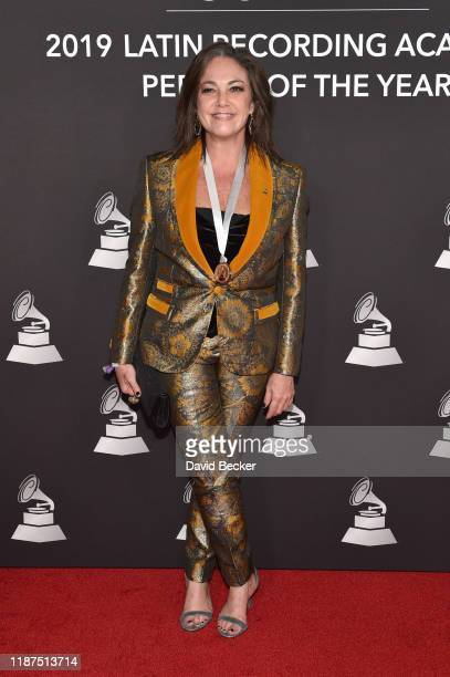 Claudia Brant attends the Latin Recording Academy's 2019 Person of the Year gala honoring Juanes at the Premier Ballroom at MGM Grand Hotel & Casino...