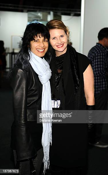 Claudia Carballada and Kelley Kimbell attend 3rd Annual Art Los Angeles Contemporary produced by Fair Grounds Associates under the direction of...