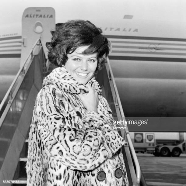 Claudia Cardinale, Actress, London Heathrow Airport, 20th February 1965.