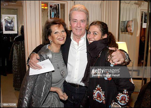 """Claudia Cardinale, Alain Delon and Claudia Squitieri at Last Performance Of Alain Delon And Anouk Aimee In A.R. Gurney's Play """"Love Letters"""" At..."""