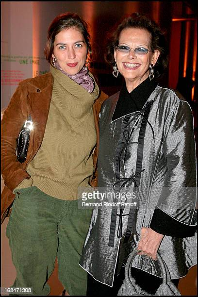 Claudia Cardinale and daughter Claudia Squitieri at Preview of L'Atelier D'Alberto Giacometti At Centre Pompidou In Paris