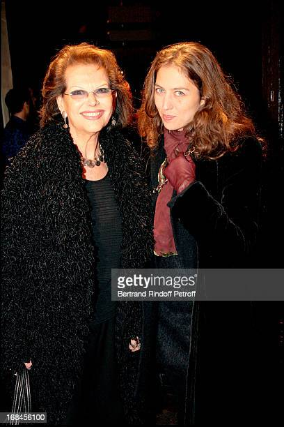 Claudia Cardinale and daughter Claudia Squitieri at Sonya Rykiel Store Opening On The Saint Germain Boulevard In Paris .