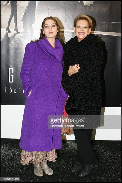 Claudia Cardinale and daughter Claudia Squitieri at the Paris Premiere Of The Film Angel A AT The Cinema Gaumont On The Champs Elysees.