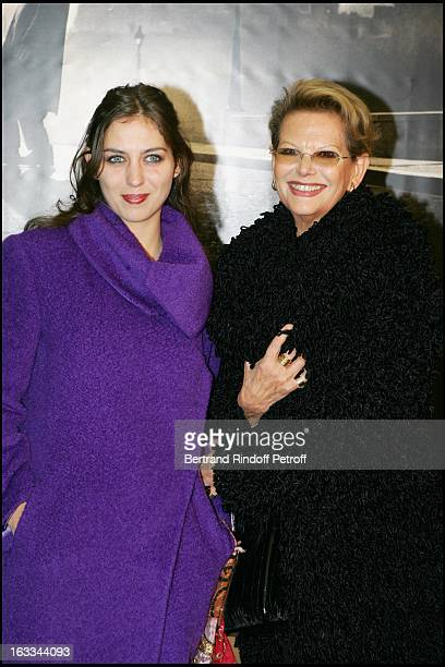 Claudia Cardinale and daughter Claudia Squitieri at the Paris Premiere Of The Film Angel A AT The Cinema Gaumont On The Champs Elysees