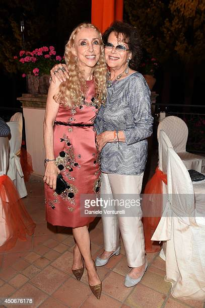 Claudia Cardinale and Franca Sozzani attend the World Food Programme Charity Gala Hosted by MASERATI during the 60th Taormina Film Fest on June 15...