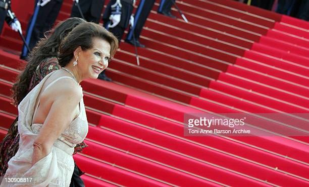 Claudia Cardinale and guest during 2007 Cannes Film Festival 'Chacun Son Cinema' All Directors Premiere at Palais des Festival in Cannes France