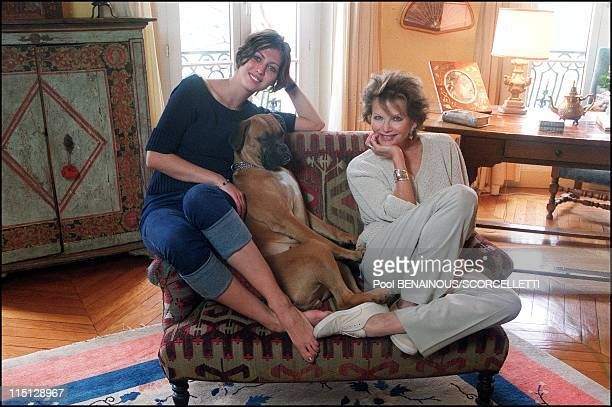 Claudia Cardinale and her daughter Claudia in their Paris apartment in Paris France on April 26 2000