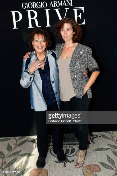 Claudia Cardinale and her daugther Claudia Squitieri attends the Giorgio Armani Prive Haute Couture Fall/Winter 2019 2020 show as part of Paris...