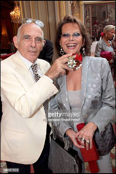 Claudia Cardinale and her husband Pasquale Squitieri at Claudia Cardinale And Giorgio Armani Awarded By French President Nicolas Sarkozy With...