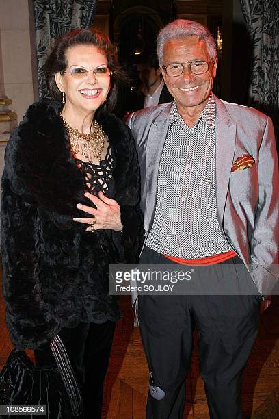 Claudia Cardinale and JeanMarie Perrier in Paris France on May 10 2007