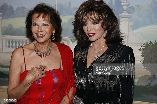Claudia Cardinale and Joan Collins attend the Best Awards 2007 at the Bristol Hotel December 9 2007 in Paris France