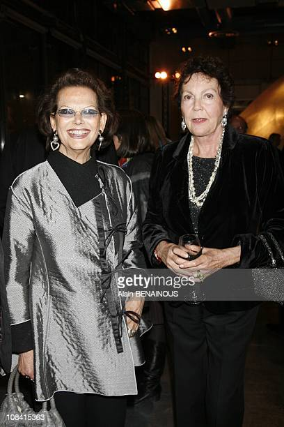 Claudia Cardinale and Marie Gabrielle de Savoie in Paris France on October 15th 2007