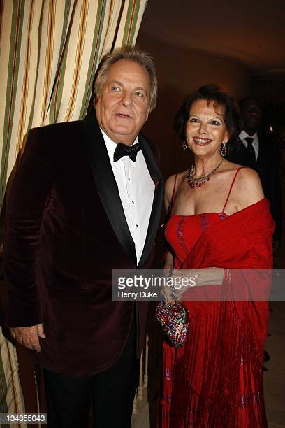 Claudia Cardinale and Massimo Gargia attend the Best Awards 2007 at the Bristol Hotel December 9 2007 in Paris France
