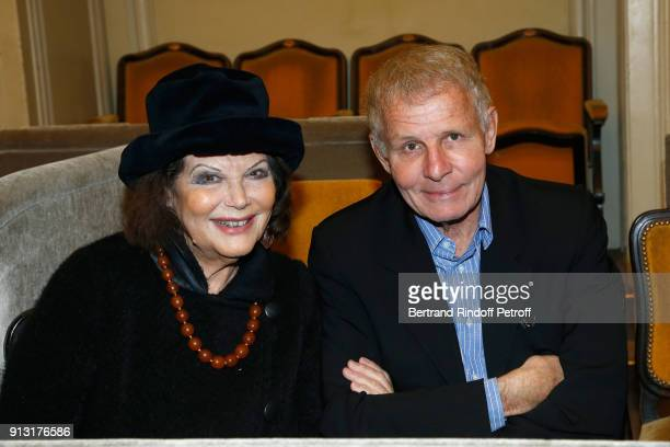 Claudia Cardinale and Patrick Poivre d'Arvor attend the Heart Gala Evening to benefit the Mecenat Chirurgie Cardiaque at Salle Gaveau on February 1...