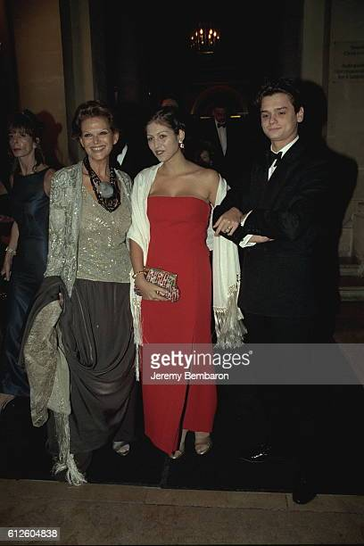 Claudia Cardinale arrives at the Royal Opera with daughter Claudia Squitieri and her boyfriend