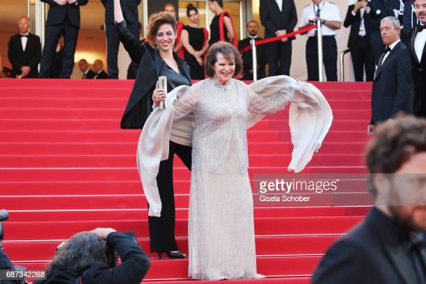 Claudia Cardinale attends the 70th Anniversary of the 70th annual Cannes Film Festival at Palais des Festivals on May 23 2017 in Cannes France