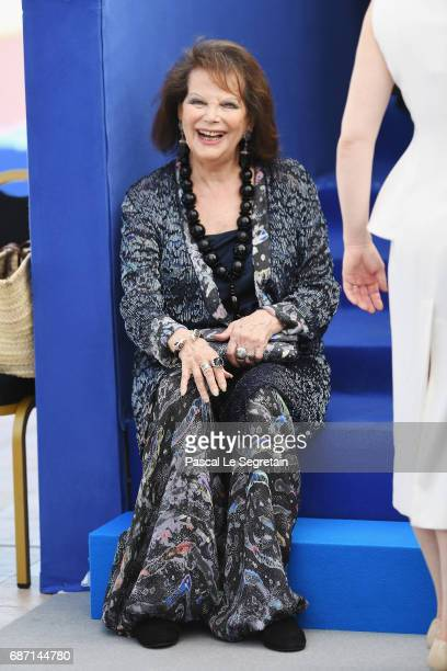Claudia Cardinale attends the 70th Anniversary Photocall during the 70th annual Cannes Film Festival at Palais des Festivals on May 23 2017 in Cannes...