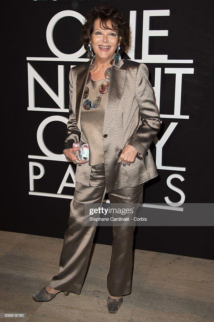 Claudia Cardinale attends the Giorgio Armani Prive show as part of Paris Fashion Week Haute Couture Spring/Summer 2014, at Palais de tokyo in Paris.