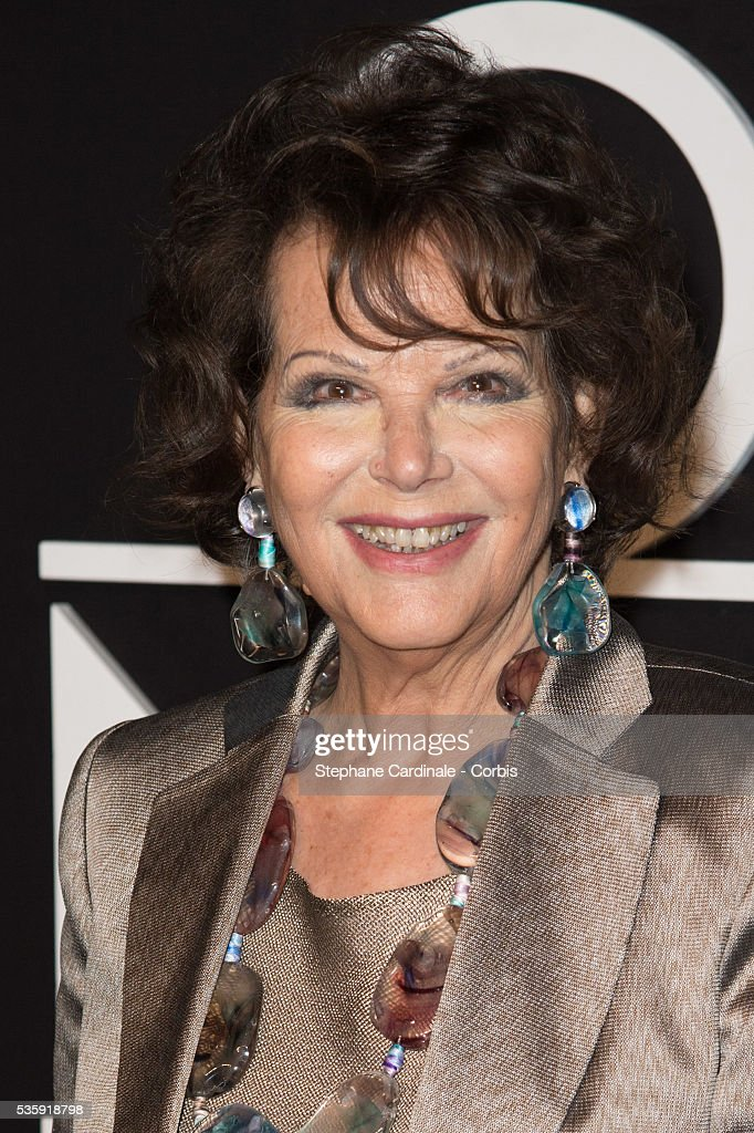 Claudia Cardinale attends the Giorgio Armani Prive show as part of Paris Fashion Week Haute Couture Spring/Summer 2014, at Palais de tokyo in Paris.