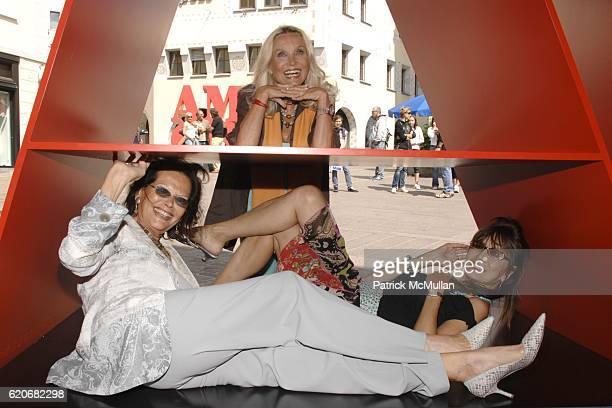 Claudia Cardinale Barbara Bouchet and Cassandra Gava attend GALERIE GMURZYNSKA Art Masters Opening Featuring Sculptures by ROBERT INDIANA at Galerie...