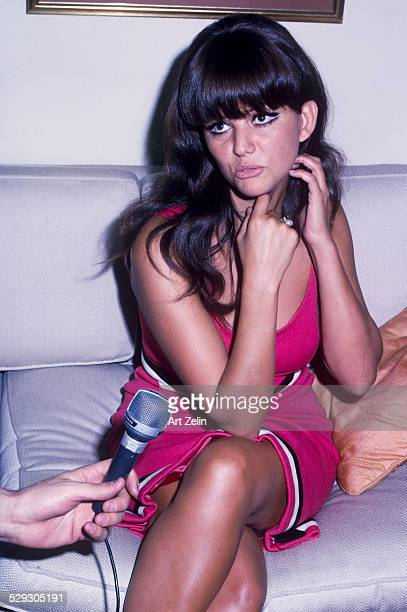 Claudia Cardinale being interviewed circa 1970 New York