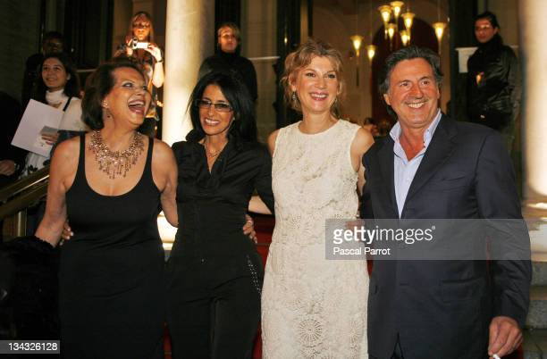 Claudia Cardinale Deborah Michele Laroque and Daniel Auteuil arrive at the 14th edition of the association 'Fight Aids' gala concert at the Opera...