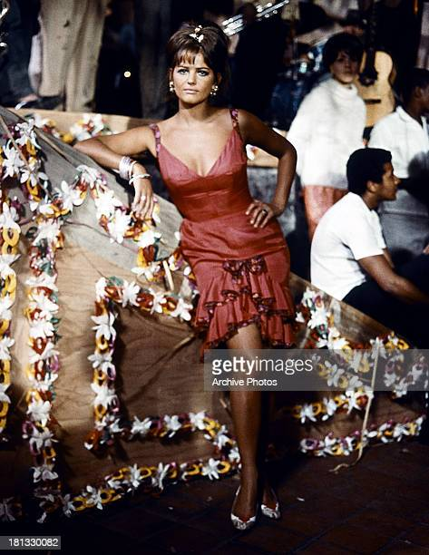 Claudia Cardinale in a scene from the film '8½', 1963.