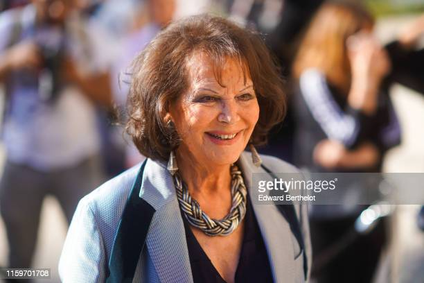 Claudia Cardinale is seen outside Armani during Paris Fashion Week Haute Couture Fall/Winter 2019/20 on July 02 2019 in Paris France