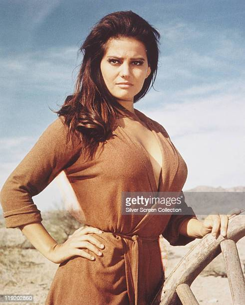 Claudia Cardinale, Italian actress, in a publicity portrait issued for the film, 'Once Upon a Time in the West', 1968. The western, directed by...