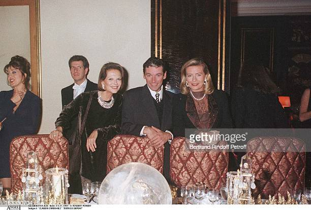 Claudia Cardinale Patrick Dupond Corinne Bouygues at theChanel Dinner Celebrating The Opening Of La Joaillerie 18 Place Vendome In Paris