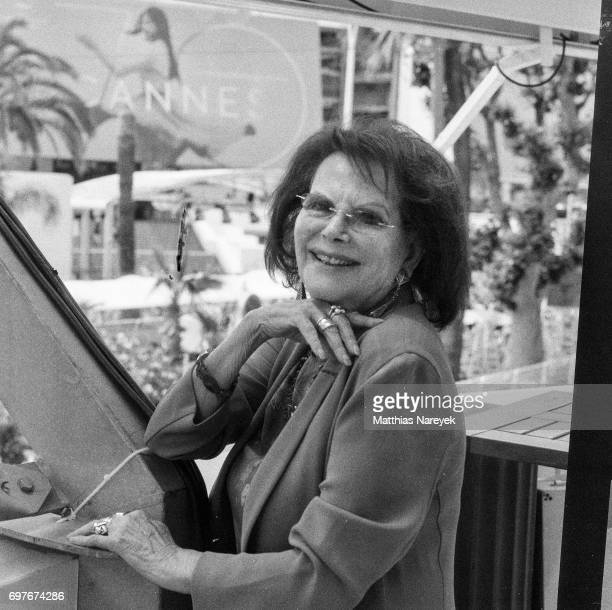 Claudia Cardinale poses for a photograph during the 70th Annual Cannes Film Festival on June 1 2017 in Cannes France To celebrate the 70th...