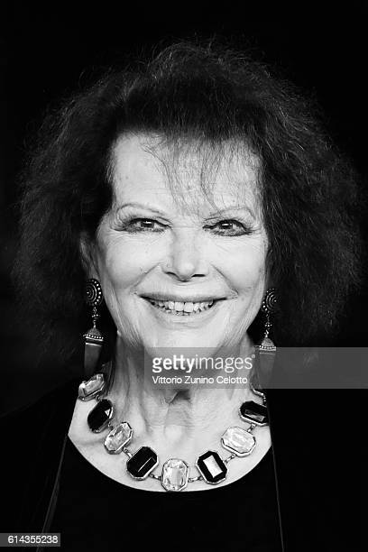 Claudia Cardinale walks a red carpet on October 13 2016 in Rome Italy