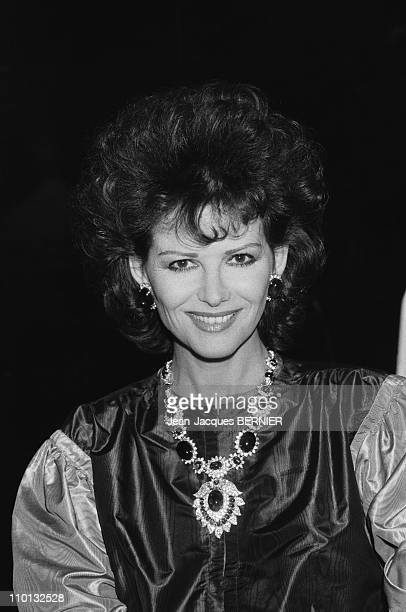 Claudia Cardinaleon TV Show 'ChampsElysees' in Paris France on January 8 1983