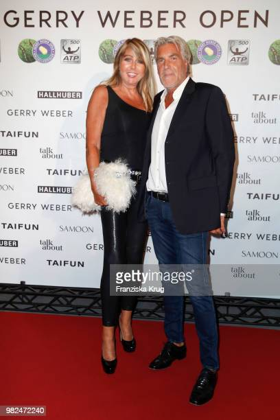 Claudia Carpendale and Michael Holland attend the Gerry Weber Open Fashion Night 2018 at Gerry Weber Stadium on June 23 2018 in Halle Germany
