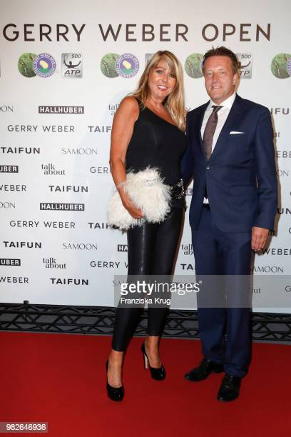 Claudia Carpendale and Ralf Weber CEO Gerry Weber attend the Gerry Weber Open Fashion Night 2018 at Gerry Weber Stadium on June 23 2018 in Halle...