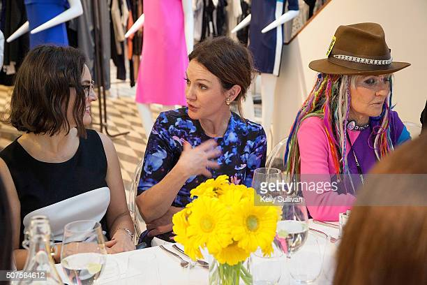 Claudia Ceniceros Samantha Campbell and Deb Windham socialize at Barneys New York on January 29 2016 in San Francisco California