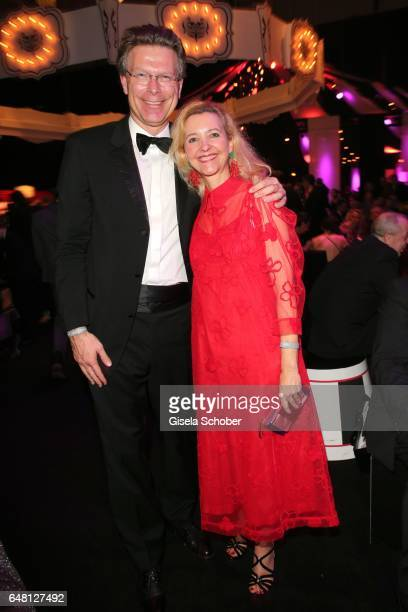 Claudia Cieslarczyk editorinchief of 'Frau im Spiegel' and her husband during the Goldene Kamera after show party at Messe Hamburg on March 4 2017 in...