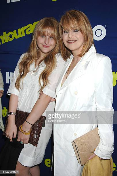 Claudia Cohen and daughter Samantha Perelman during Entourage Season Three New York Premiere Arrivals at Skirball Center for the Performing Arts at...