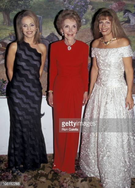 Claudia Cohen Nancy Reagan and Princess Yasmin Aga Khan