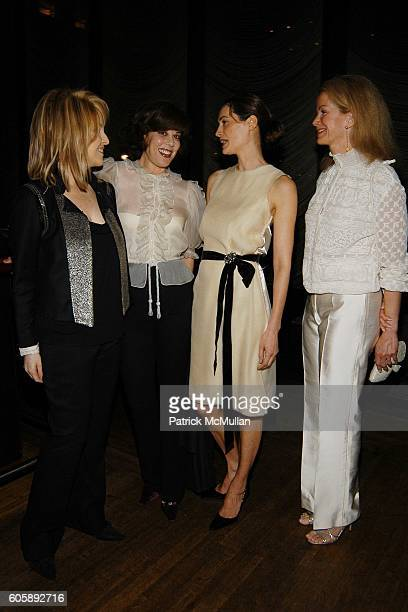 Claudia Cohen Peggy Siegal Annette Lauer and Blaine Trump attend The IRVINGTON INSTITUTE Through The Kitchen Dinner Benefit for Immunoligical...