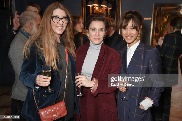 Claudia Croft Vicky McClure and Fen O'Meally attend the Paul Smith Malgosia Bela AW18 Lunch on January 21 2018 in Paris France