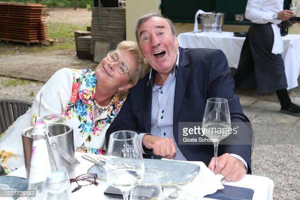 """Claudia Effenberg and Frank Fleschenberg, Eagles Golf Club, during the """"Ladies Lunch im Teatro"""" for the benefit of the Tribute to Bambi Foundation at..."""