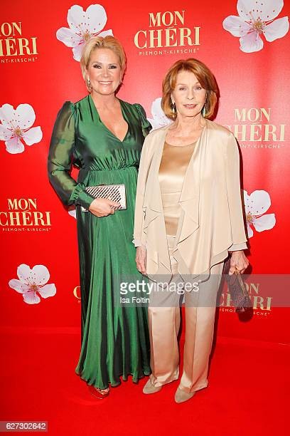 Claudia Effenberg and german actress Senta Berger attend the Mon Cheri Barbara Tag at Postpalast on December 2 2016 in Munich Germany